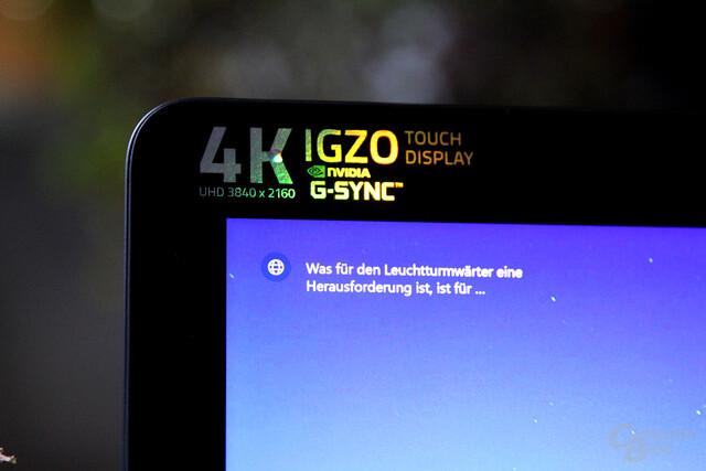 Das gibt es sonst nicht: 17,3 Zoll mit UHD, G-Sync und Touch