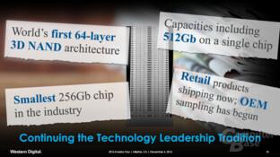 WD und Toshiba wollen erste bei 64-Layer-3D-NAND sein