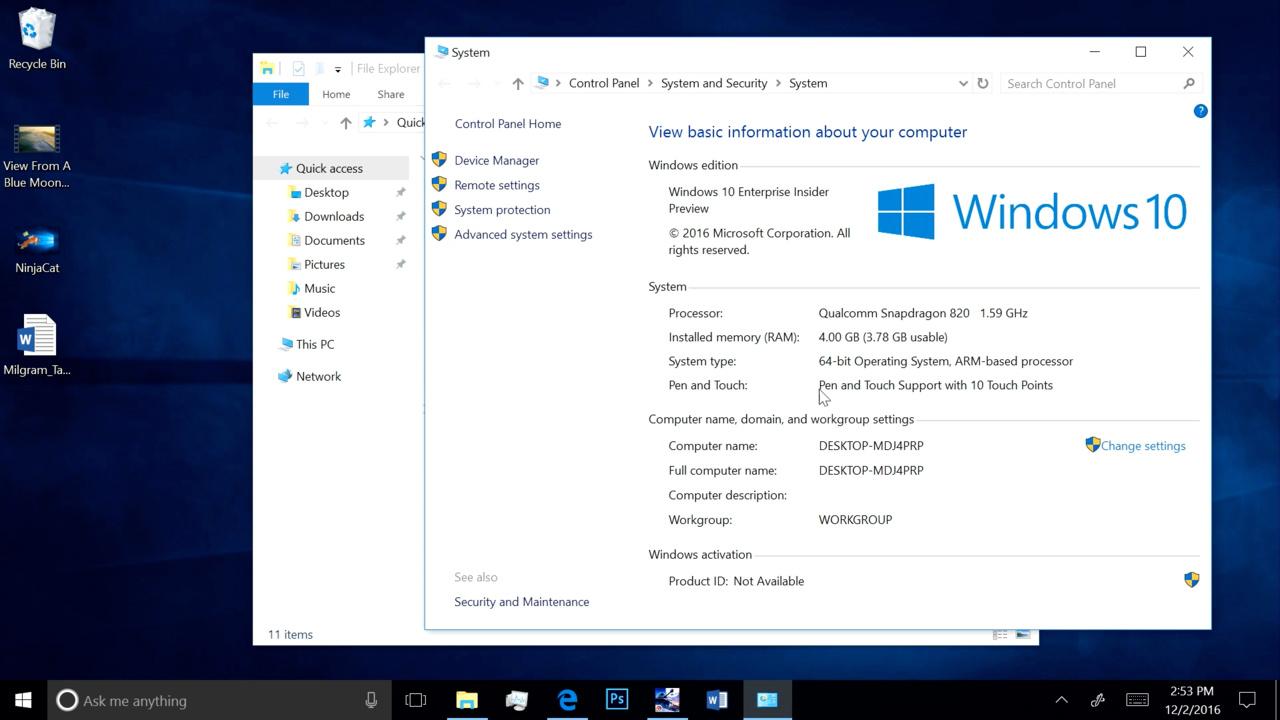 """Windows RT 10.0: Windows 10 unterstützt ARM und eSIM für """"Mobilfunk-PCs"""""""