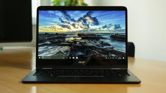 Acer Spin 7 im Test: Passiv gekühltes Convertible aus Alu mit 14-Zoll-Display