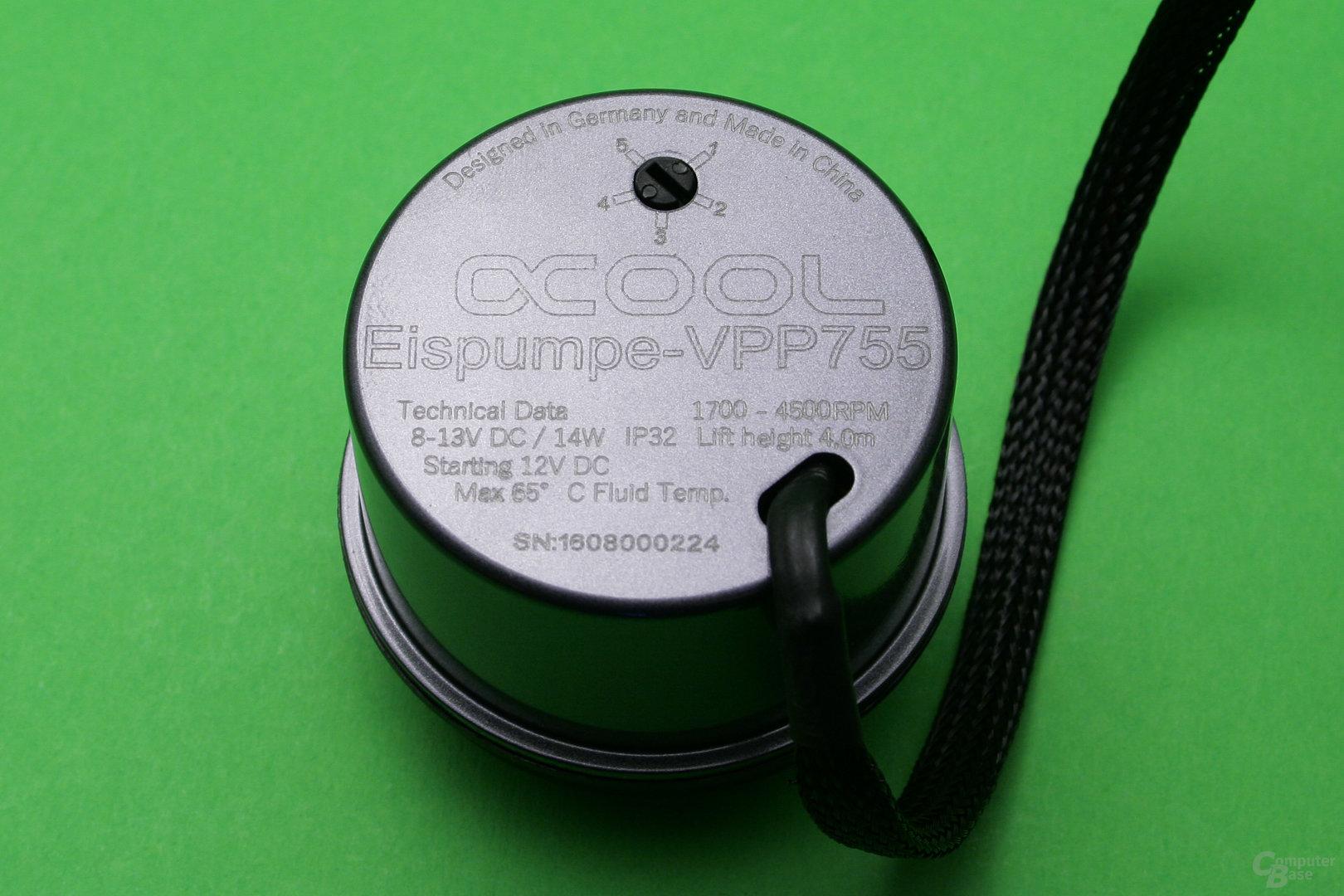Alphacool VPP755: Pumpengehäuse aus Metall