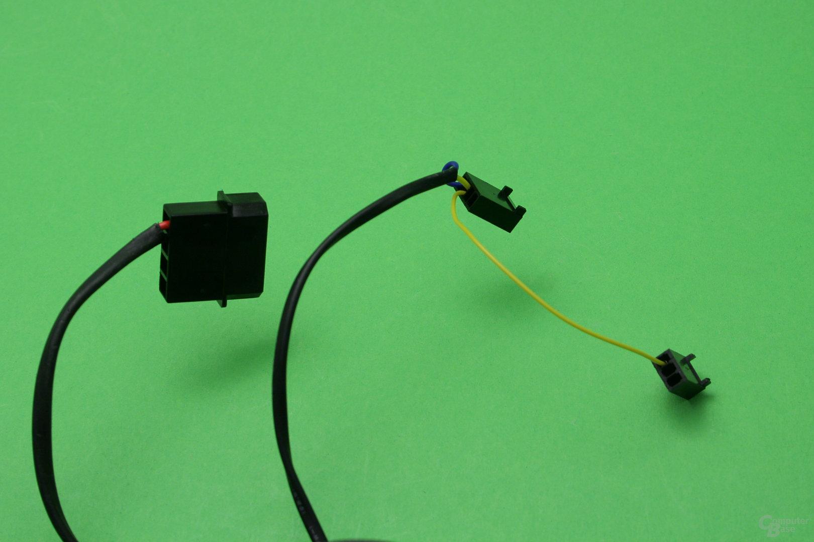 Alphacool VPP755: Von der Pumpe gehen drei Stecker ab