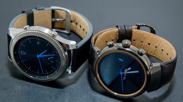 Runde Smartwatches im Test: Asus ZenWatch 3 und Samsung Gear S3 Classic im Vergleich