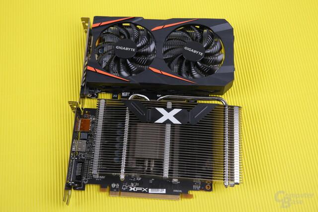 Passive XFX RX 460 und eine normale luftgekühlte Version
