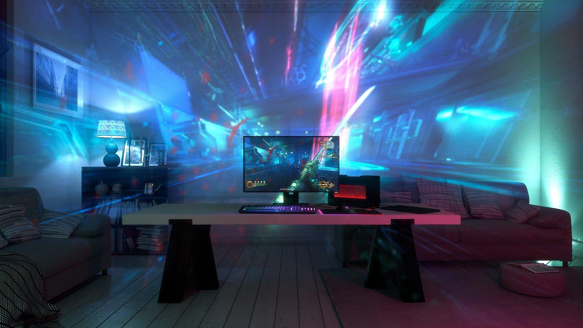 Project Ariana projiziert eine erweiterte Spielumgebung ins Zimmer