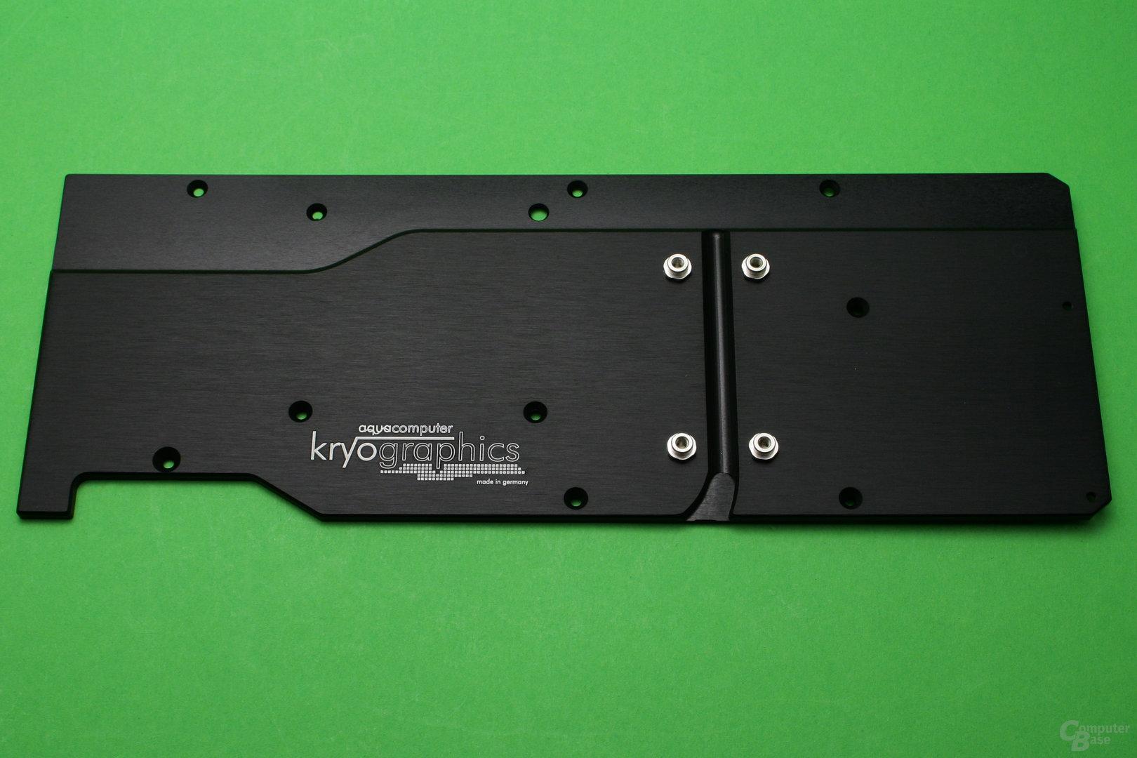 Aqua Computer Kryographics: Backplate aus Aluminium
