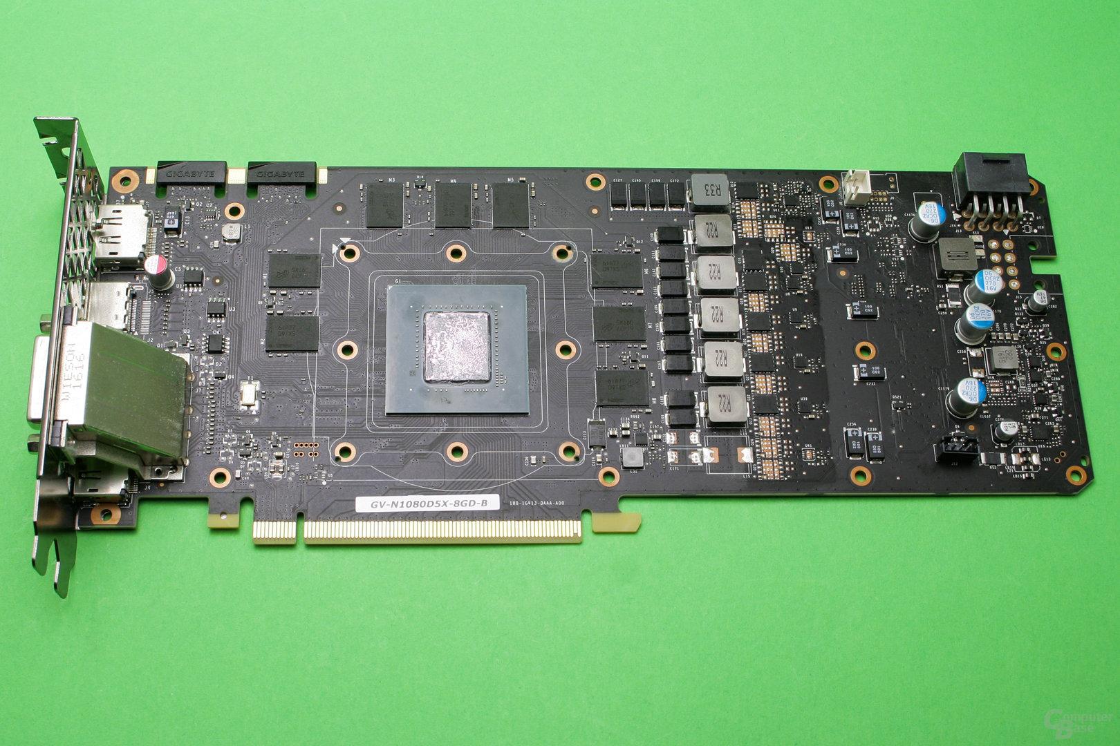 GeForce GTX 1080 Founders Edition ohne Kühler