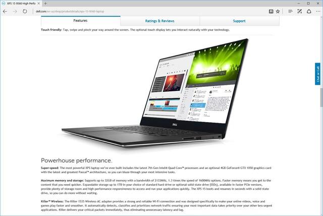 Neues XPS 15 zu früh auf der US-Website von Dell