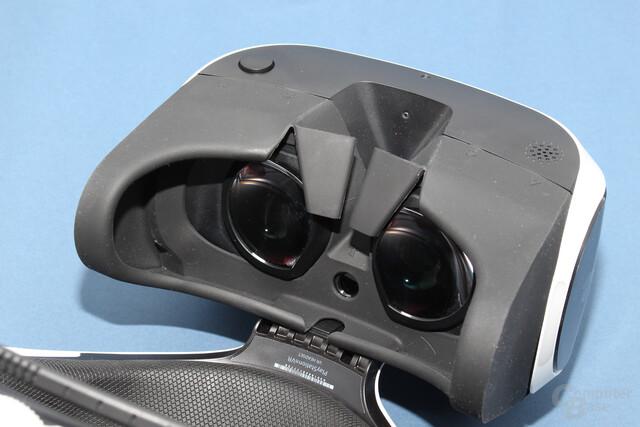 Das 5,7-Zoll-Display von PSVR löst mit Full HD auf