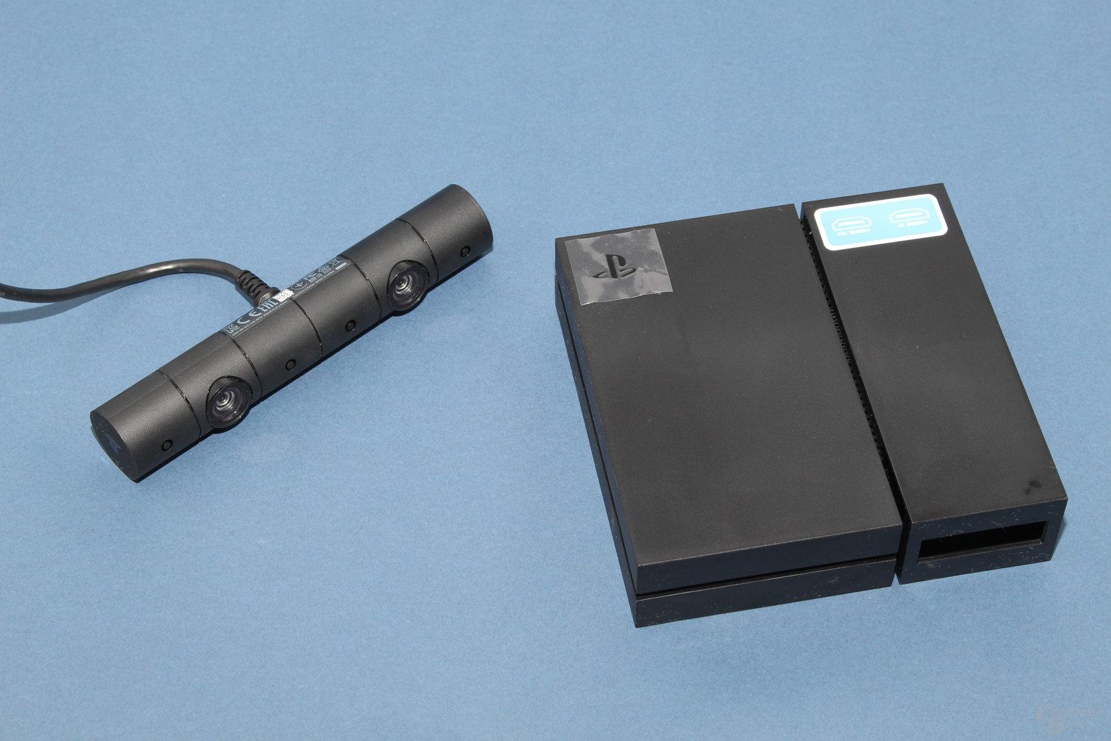 """PS-Kamera und die """"Prozessoreinheit"""" für PSVR"""