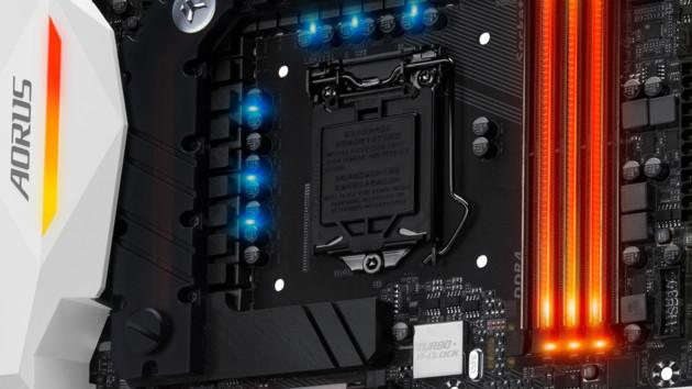 Aorus-Gaming-Mainboards: Gigabyte mit U.2, NVMe und viel Licht bei Kaby Lake