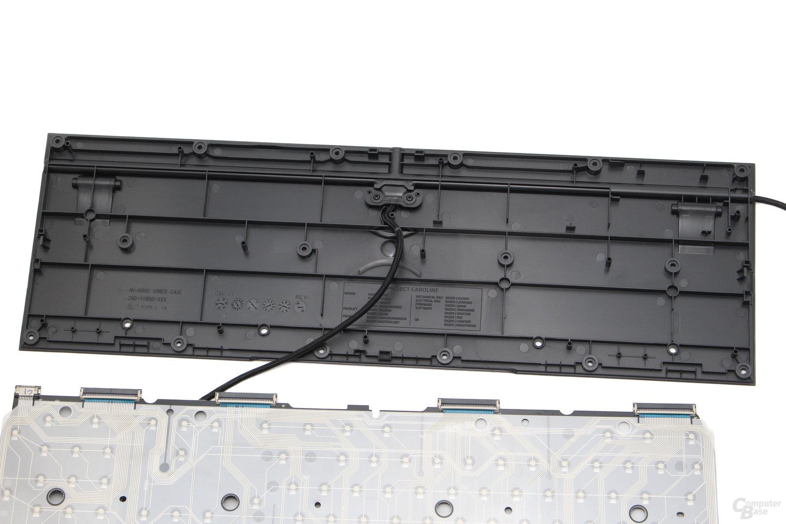 Eine Metalplatte wird in der Ornata nicht eingesetzt
