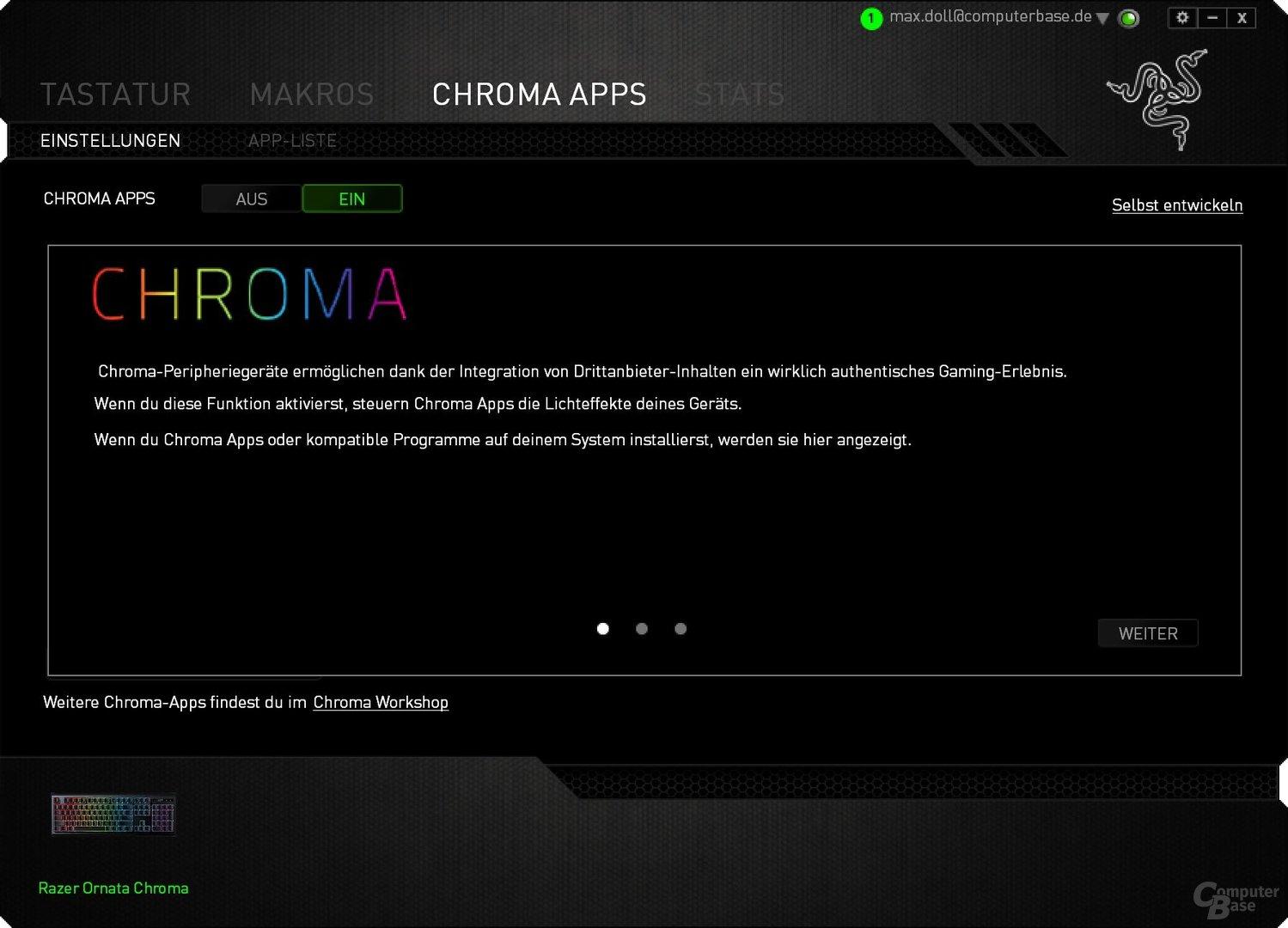 Chroma-Apps sind dünn gesäht