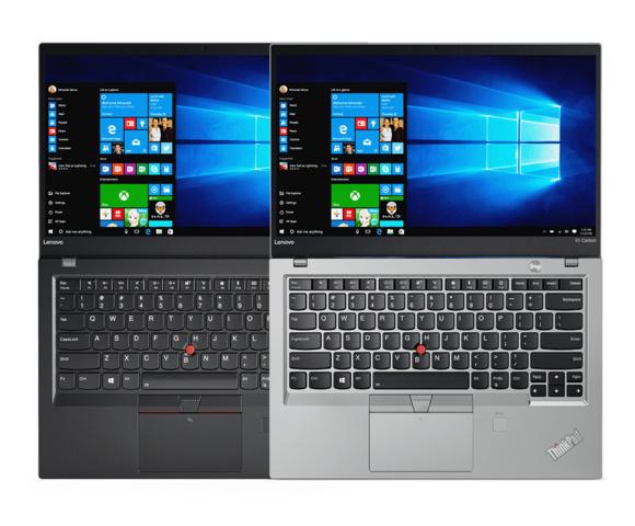 ThinkPad X1 Carbon 2017 in Schwarz und Silber