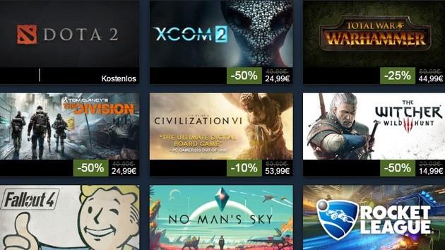 Steam: Spiele-Top-100 nach Umsatz und Steam Awards gekürt