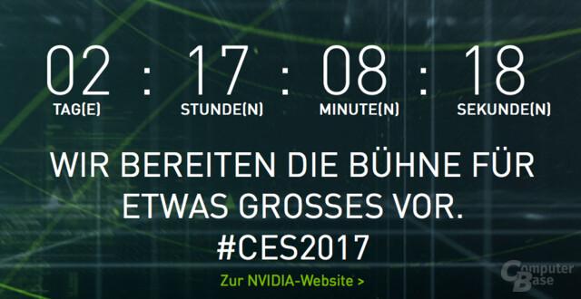 Countdown zur Präsentation von etwas Großem zur CES