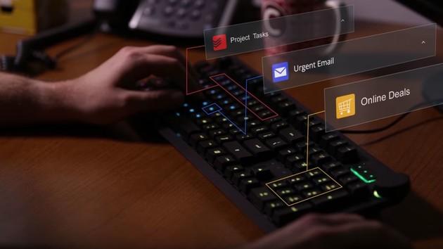 Das Keyboard Q5: Cloud und RGB-LEDs machen Tasten zum Display