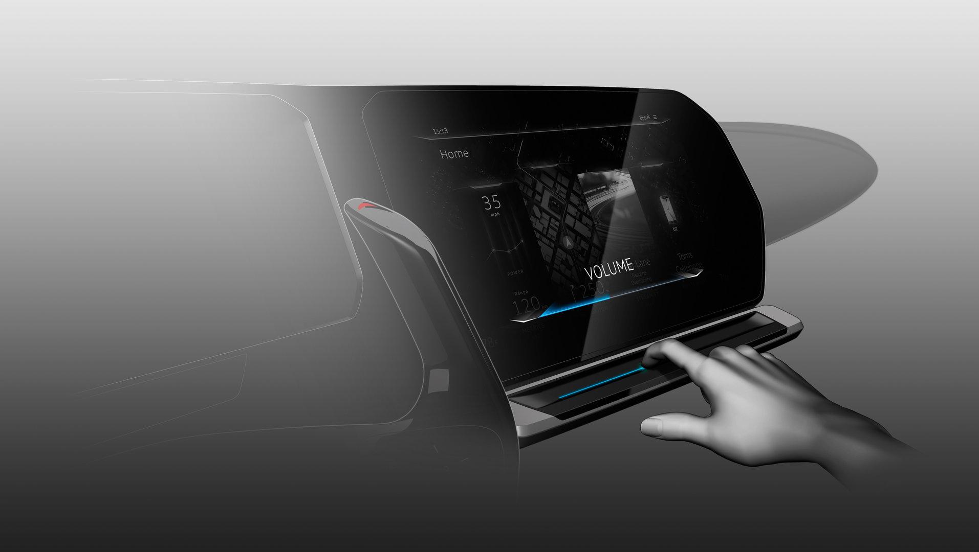 Touchslider-Bedienung mit Farben und haptischem Feedback