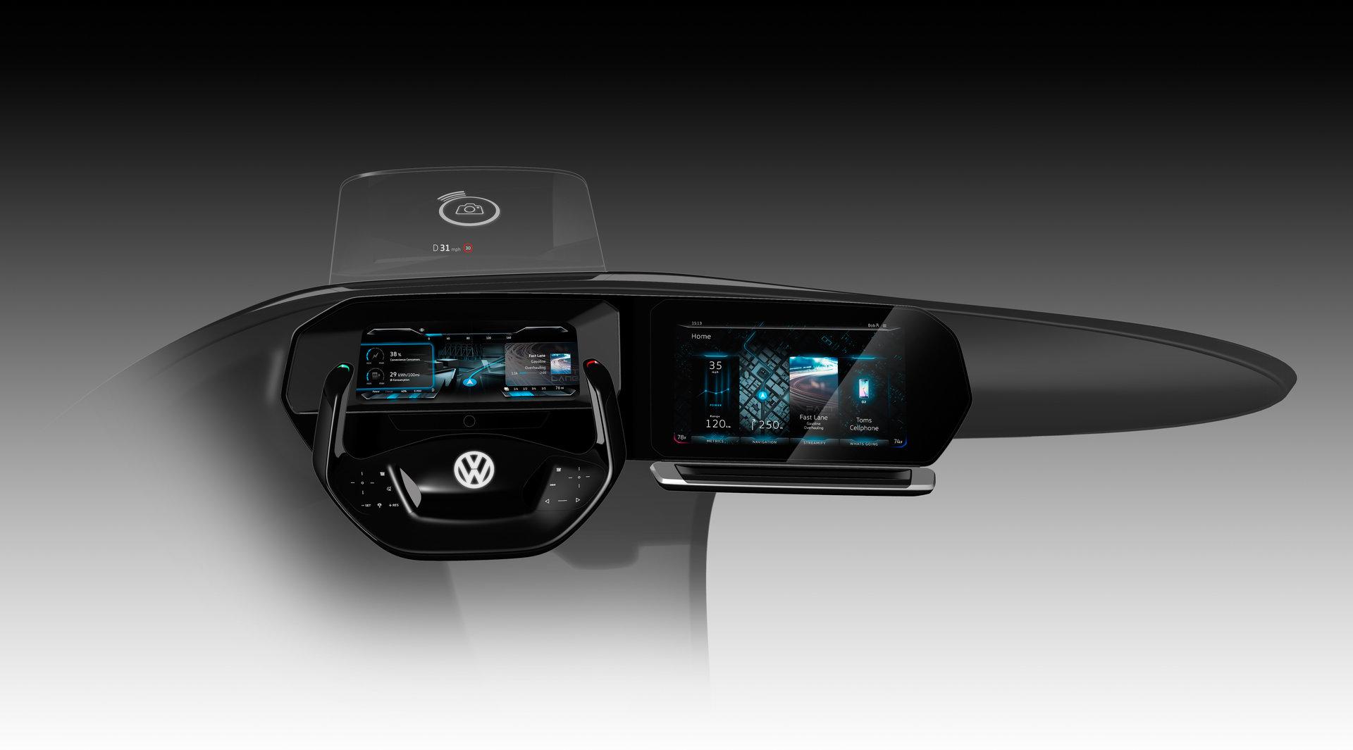 So könnte das Pkw-Cockpit der Zukunft bei VW aussehen