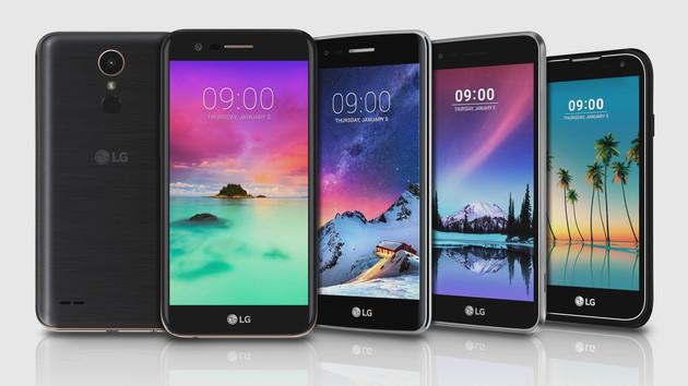 K-Serie & Stylus 3: LG zeigt fünf neue Smartphones für Einsteiger