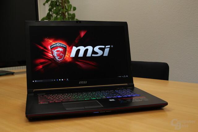 Das MSI GE72-7RE mit Core i7-7700HQ und GeForce GTX 1050 Ti