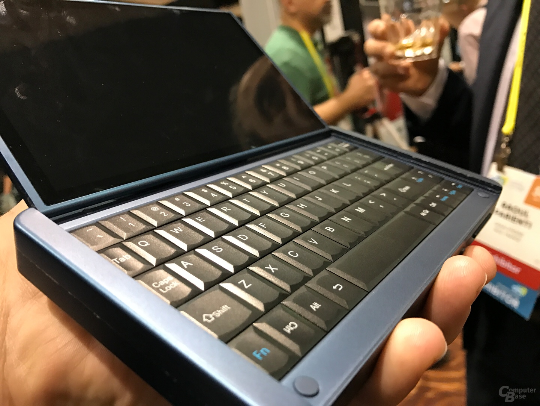 Die Tastatur des Notebooks