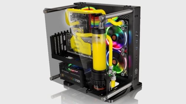 Thermaltake Core P1 TG: ITX-Wandgehäuse richtet sich an Wasserkühler