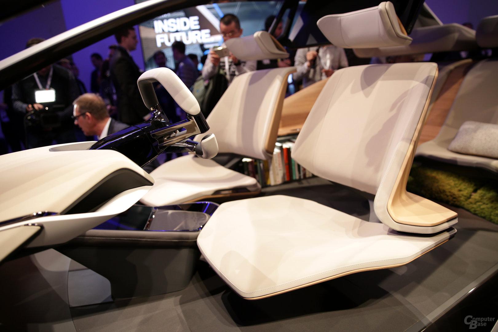 Die vorderen Sitze