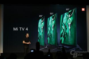 Der Xiaomi Mi TV 4 kommt in Größen von 65, 55 und 49 Zoll