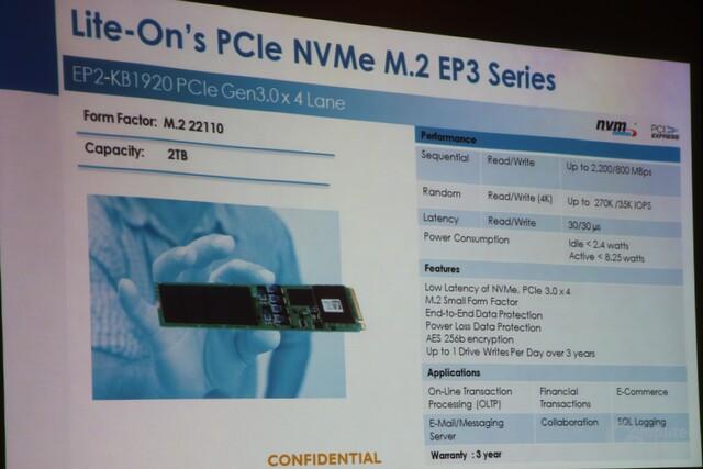 EP3 als M.2-SSD mit PCIe und NVMe