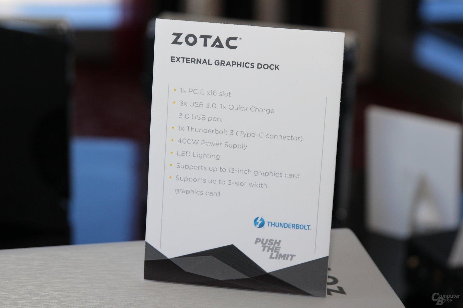 Zotacs externe Grafiklösung via Thunderbolt 3