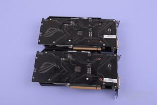 Asus GTX 1050 Strix (oben) und GTX 1050 Ti Strix (unten)