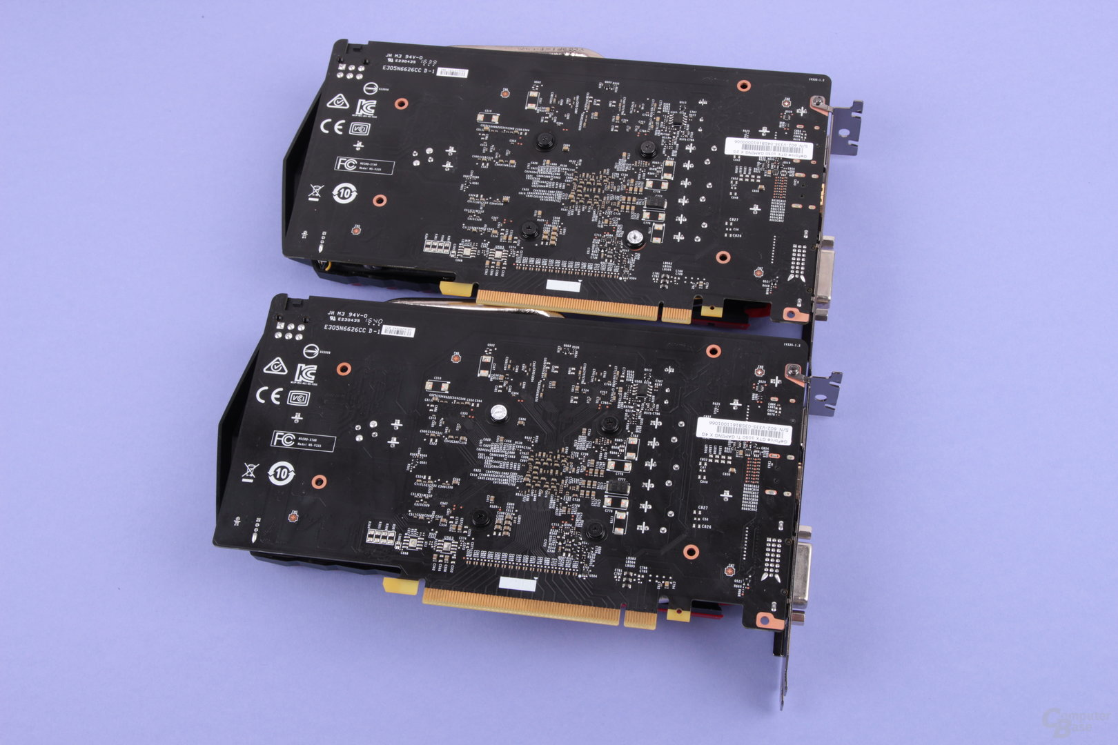 MSI GTX 1050 Gaming (oben) und GTX 1050 Ti Gaming (unten)