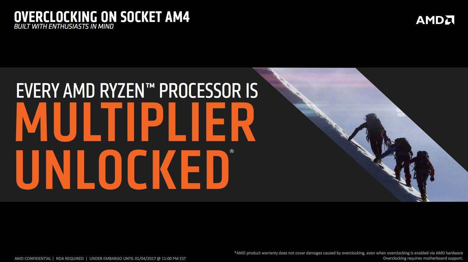 Alle Ryzen-CPUs haben einen offenen Multiplikator