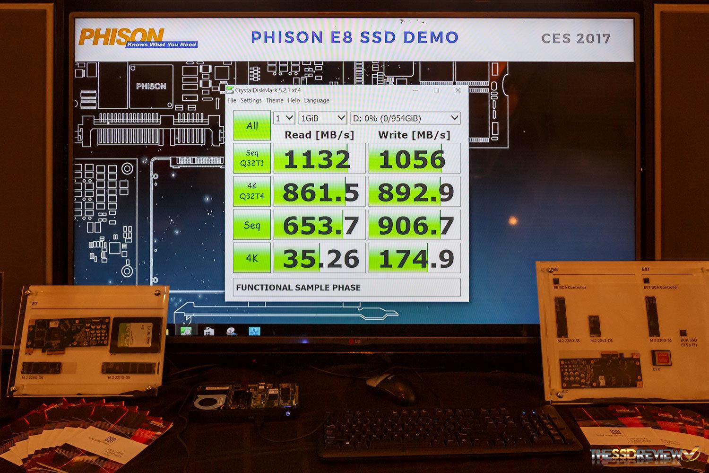 Erster Benchmark mit Phison E8 (PS5008-E8)