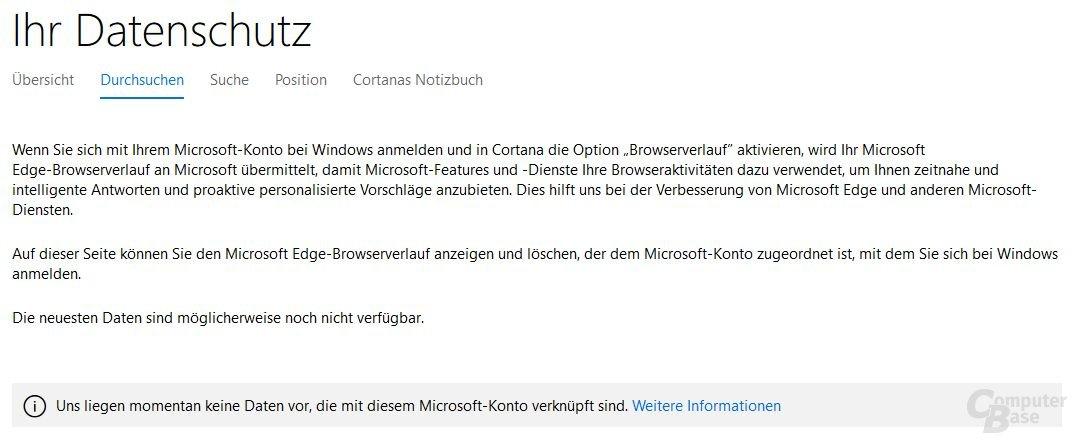 Privacy Dashboard für Windows 10