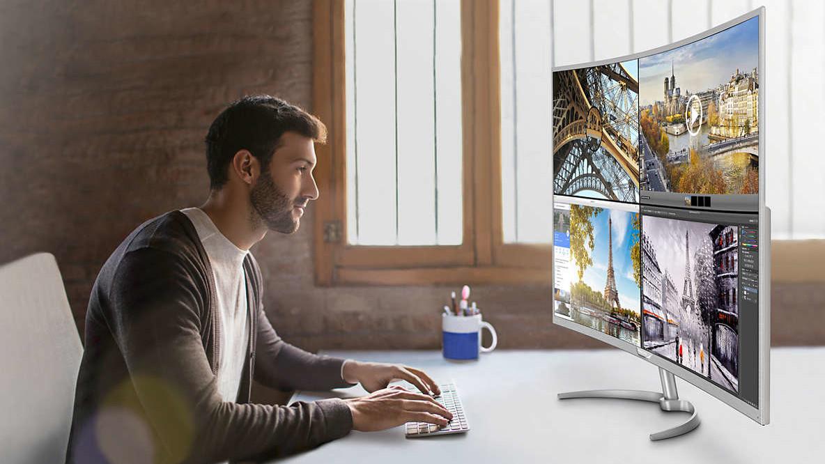 Philips BDM4037UW: Der größte Curved‑Monitor mit UHD kostet 700 Euro