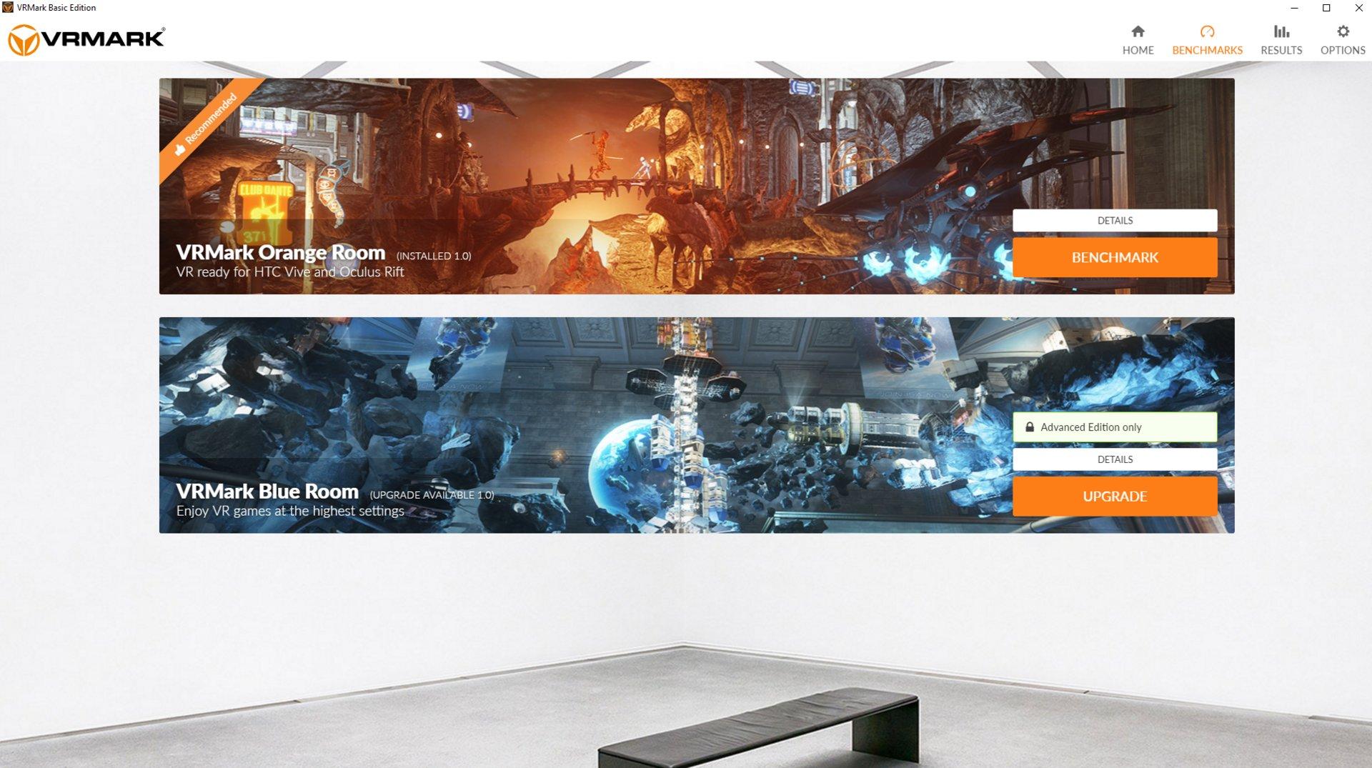 VRMark: Benchmark-Screen