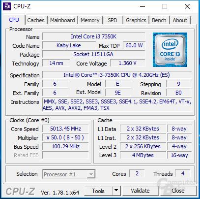 Intel Core i3-7350K auf 5 GHz
