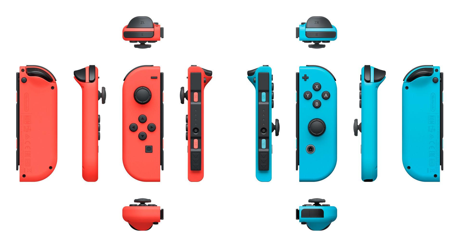 Joy-Con in Rot und Blau