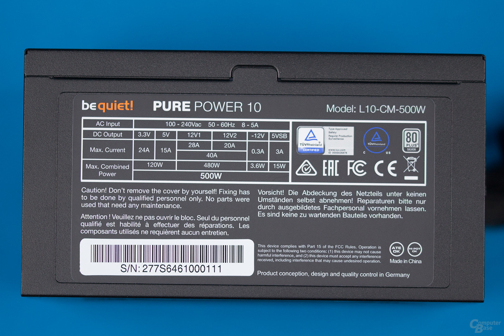 be quiet! Pure Power 10 500W CM