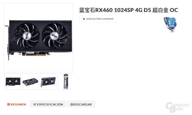 Radeon RX 460 mit voll aktiviertem Polaris 11 von Sapphire