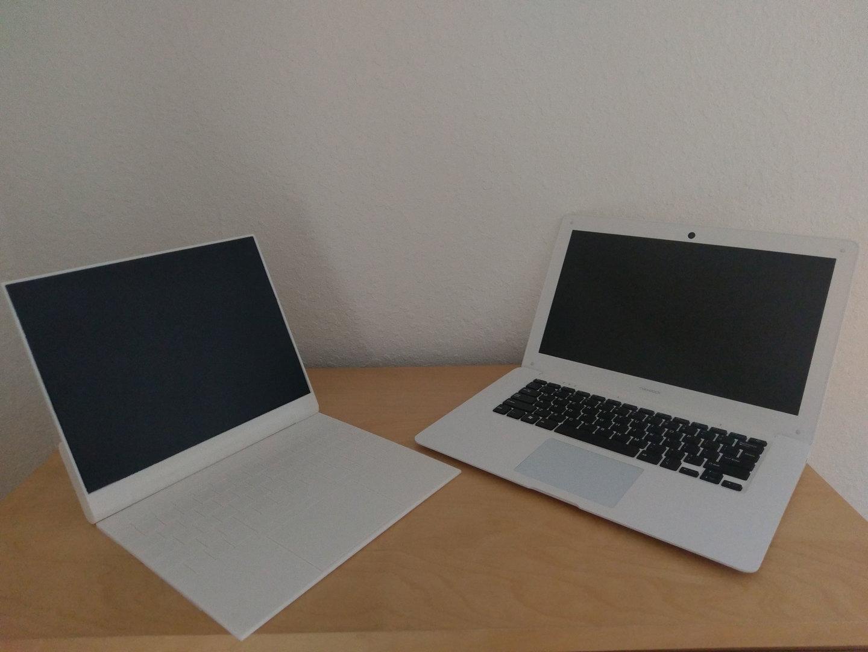 Bisher existiert die neue Version (links) nur im PC und als 3D-Druck