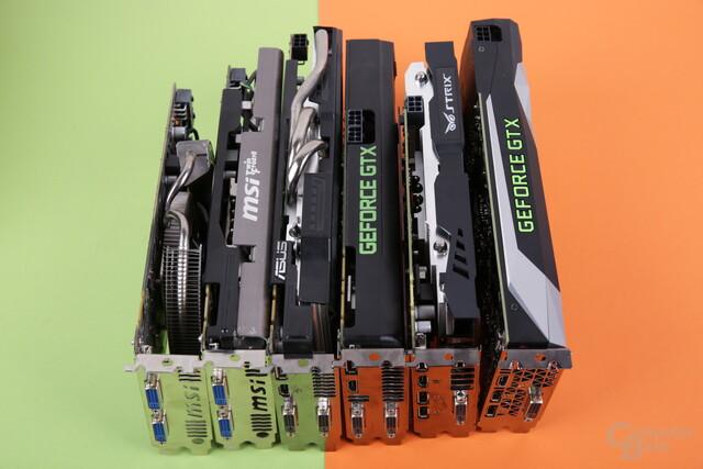 Nvidia-Grafikkarten seit 2010 im Test