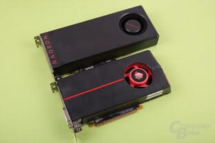 Radeon RX 480 (2016, oben) und HD 5770 (2009, unten)