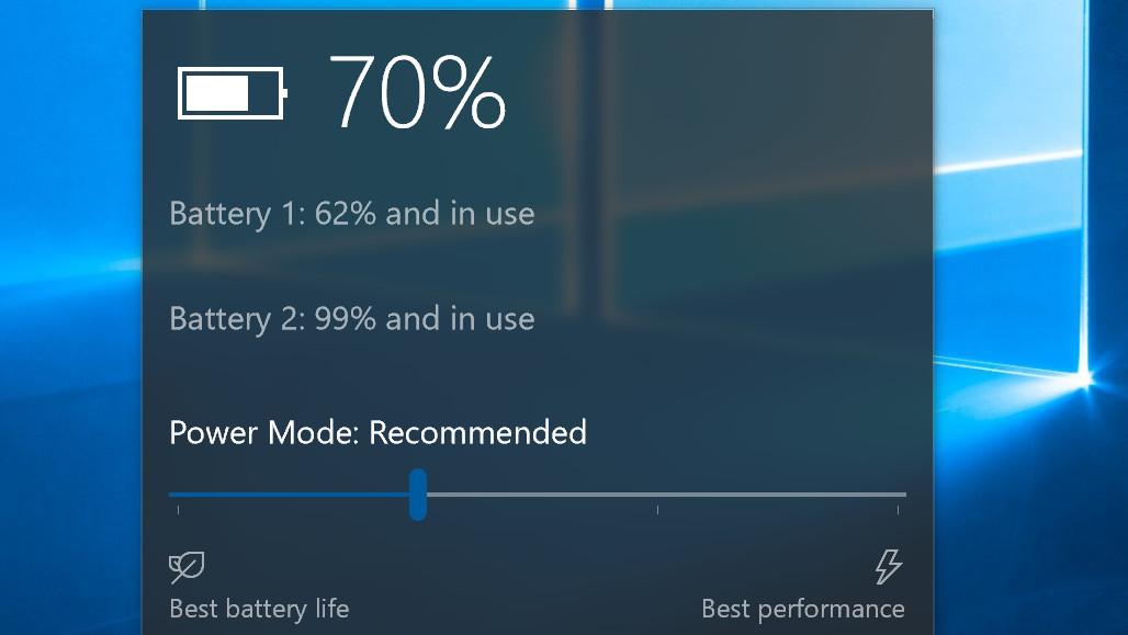 Windows 10 Build 15014: Mehr Leistung oder Laufzeit per Schieberegler