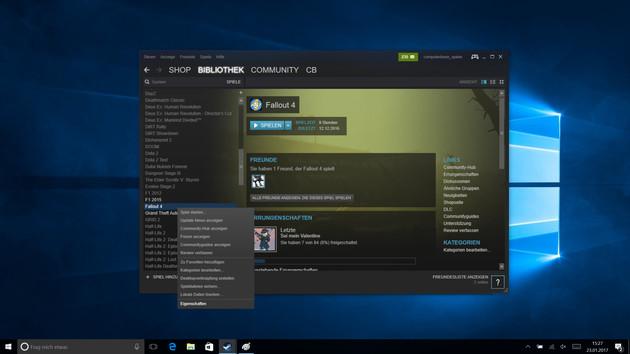 Anleitung: Installierte Spiele mit dem Steam Client verschieben
