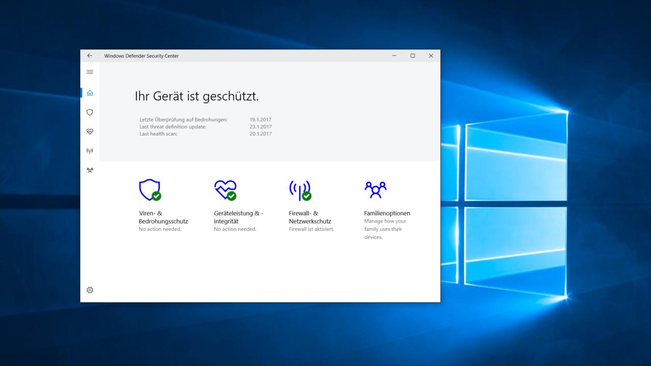 Windows 10 Security Center: Alle Einstellungen zur Sicherheit in einer App