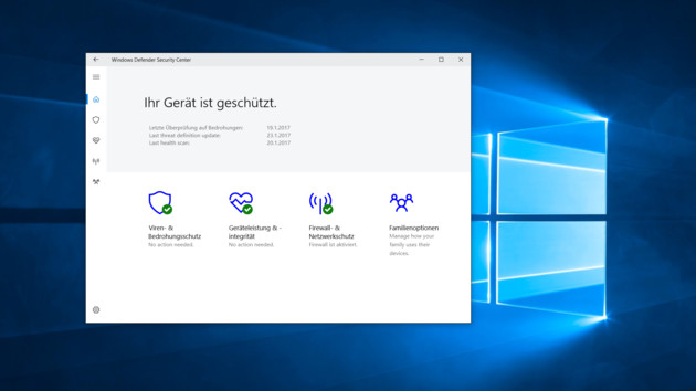 Windows 10 Security Center: Alle Einstellungen zur Sicherheit in einer App