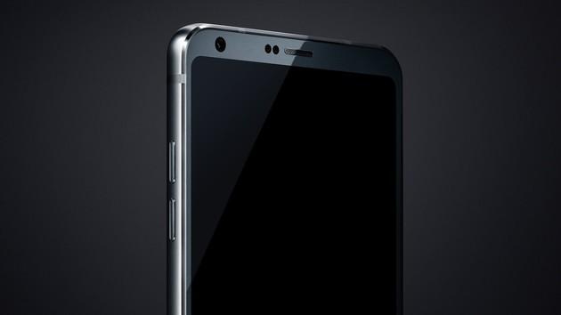 LG G6: Bild zeigt dünnen Rahmen und runde Display-Ecken